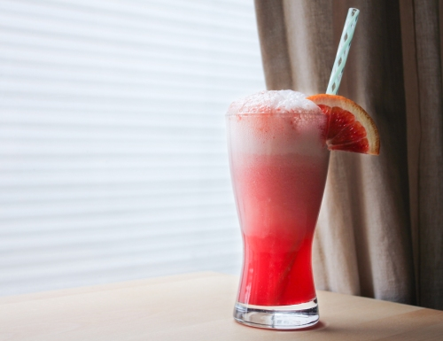 Blood orange float