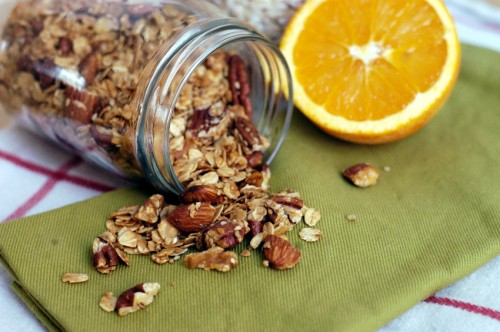 Orange-scented granola