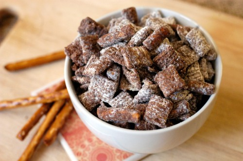 Salted pretzel muddy buddies